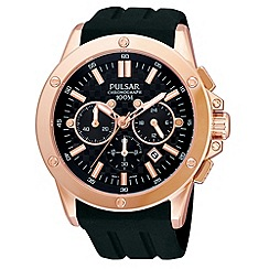 Pulsar - Men's black chronograph watch