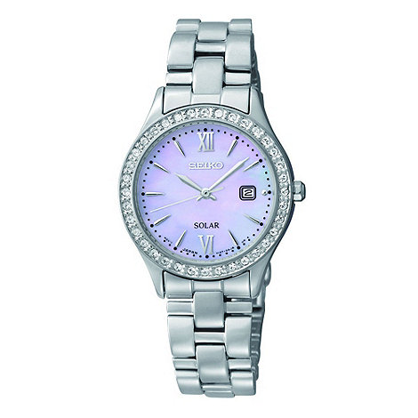Seiko - Ladies silver mother of pearl dial watch