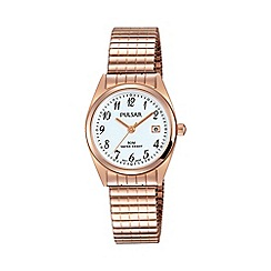Pulsar - Ladies RGP expanding bracelet watch ph7446x1