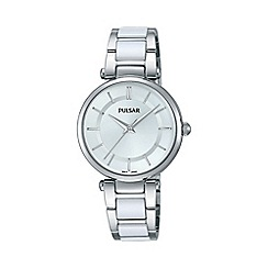 Pulsar - Ladies SS bracelet with ceramic inlay watch