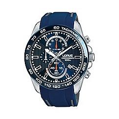 Lorus - Men's blue chronograph strap watch rm389cx9