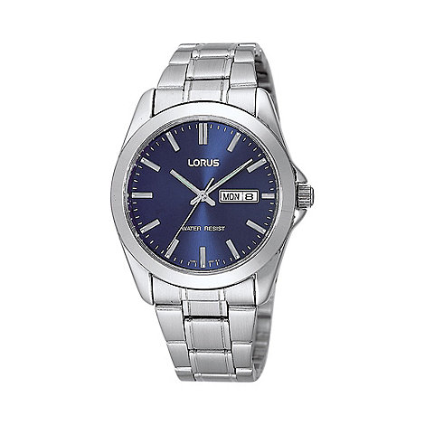 Lorus - Men+s silver bracelet analogue dial watch