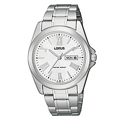 Lorus - Men's silver roman numerals analogue dial watch