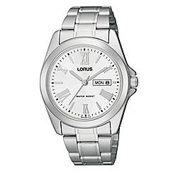Lorus - Men's silver roman numerals analogue dial watch