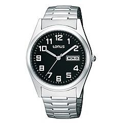 Lorus - Men's silver analogue dial bracelet watch