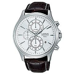 Lorus - Men's silver chronograph strap watch rm315dx9