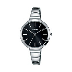 Lorus - Women's black dial dress bracelet watch rg215lx9