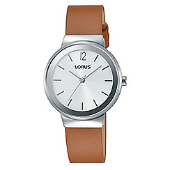 Lorus - Women's white dial dress strap watch rg249lx9