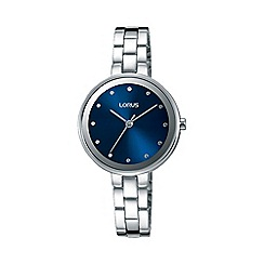 Lorus - Women's blue dial dress bracelet watch rg259lx9