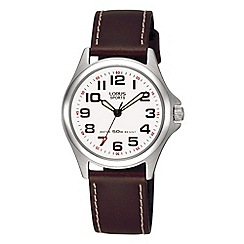 Lorus - Ladies brown leather strap watch rrs51lx9