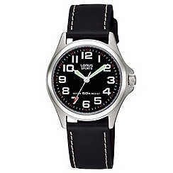 Lorus - Ladies black leather strap watch rrs53lx9
