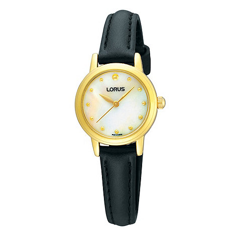 Lorus - Ladies black mother of pearl dial watch