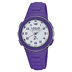 Lorus - Kid's white dial purple strap watch r2371kx9