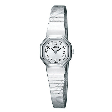 Lorus - Ladies silver octagonal bracelet watch