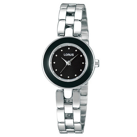 Lorus - Ladies black enamel watch