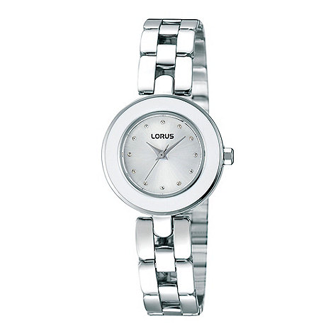 Lorus - Ladies white enamel watch
