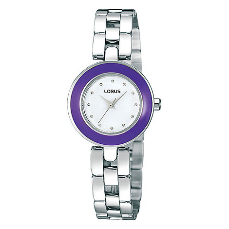 Lorus - Ladies purple enamel watch