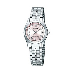 Lorus - Ladies silver bracelet watch rh729bx9