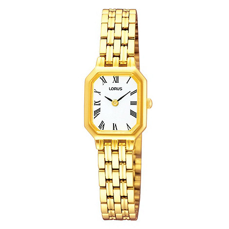 Lorus - Ladies gold octagonal dial bracelet watch