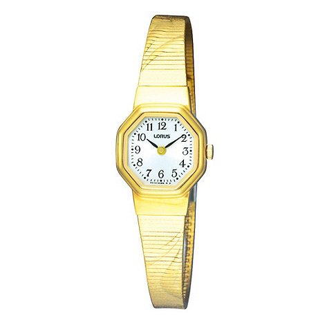 Lorus - Ladies gold octagonal bracelet watch