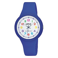 Lorus - Kid's white dial blue strap watch rrx45ex9