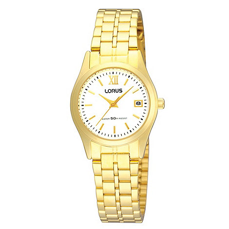 Lorus - Ladies gold round dial watch