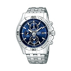 Pulsar - Men's blue chronograph dial bracelet watch