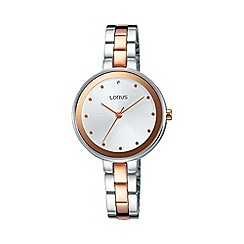 Lorus - Women's white dial dress bracelet watch rg261lx9