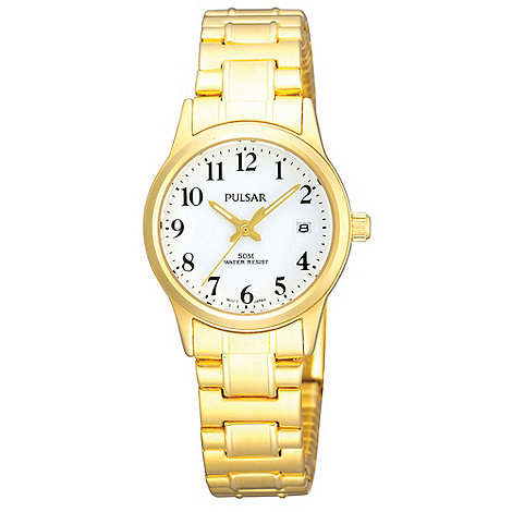 Pulsar - Ladies gold expander bracelet watch