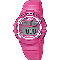 Lorus - Kid's digital pink strap watch r2387hx9