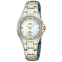Pulsar - Ladies silver titanium mother of pearl dial watch
