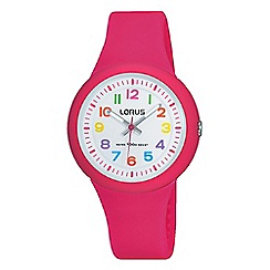 Lorus - Kid's analogue pink strap watch rrx49ex9