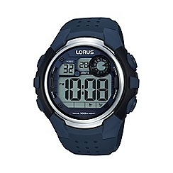 Lorus - Men's digital blue strap watch r2387kx9