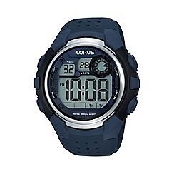 Lorus - Men's digital blue strap watch