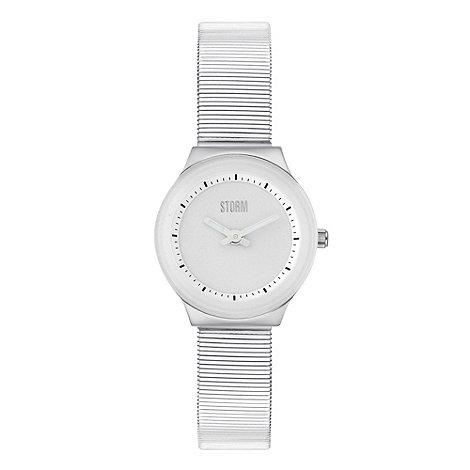 STORM - Ladies white +una+ metallic wrist watch
