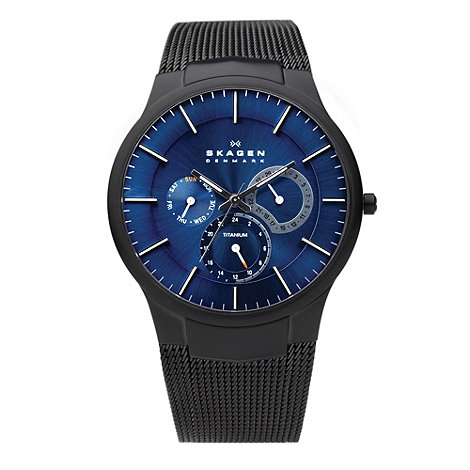 Skagen - Men+s black sleek watch