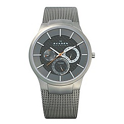 Skagen - Men's grey multi dial mesh strap watch