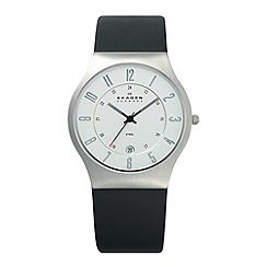 Skagen - Men's black round dial watch