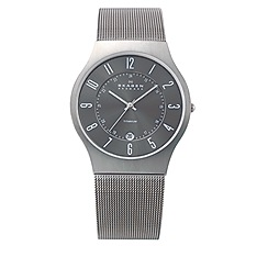 Skagen - Men's grey carcoal sleek watch