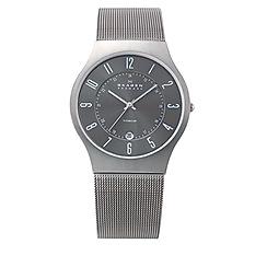 Skagen - Men's grey carcoal sleek watch