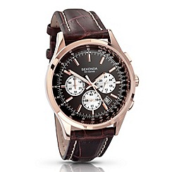 Sekonda - Men's dark brown chronograph watch