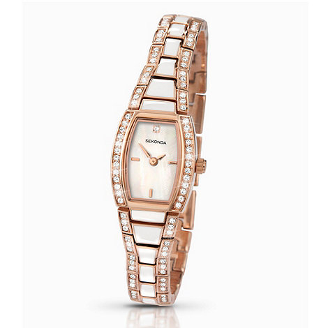 Sekonda - Ladies rose tonneau mother of pearl dial watch