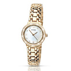 Sekonda - Ladies gold mother of pearl watch
