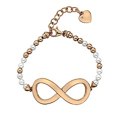 Hot Diamonds - Infinity Large Bead Bracelet With Rose Gold Plated Accents