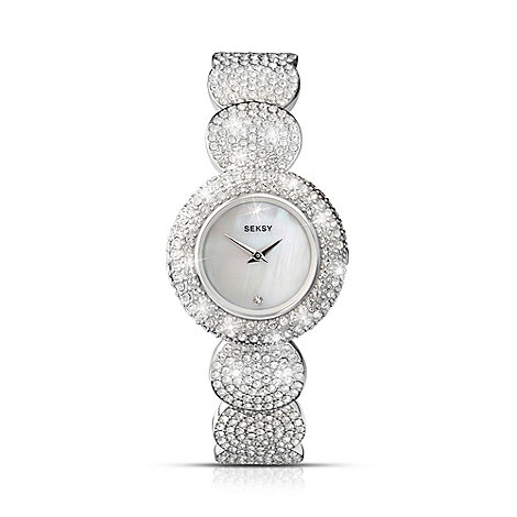 Seksy - Ladies +Elegance+ silver round strap watch