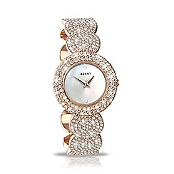 Seksy - Ladies 'Elegance' bronze round strap watch