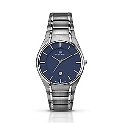 Accurist - Men's titanium bracelet blue dial watch 7138.01