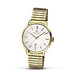 Accurist - Men's gold plated expander bracelet watch 7098.01