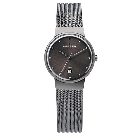 Skagen - Ladies gunmetal mesh watch