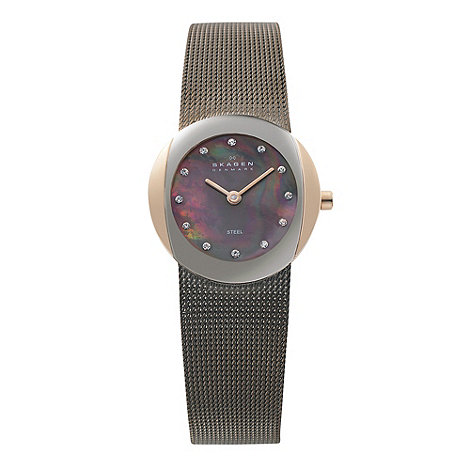 Skagen - Ladies gold mother of pearl watch